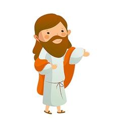 Jesus Christ standing vector image