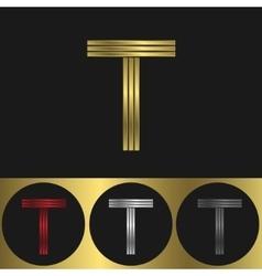 T Letter logo vector image vector image