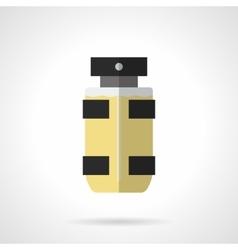 Eau de toilette for men flat color icon vector image vector image