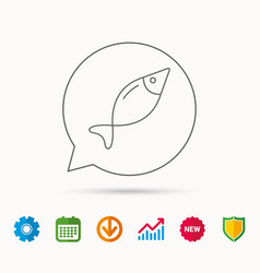 Fish icon fishing sign vector