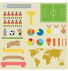Football infographics vector image vector image