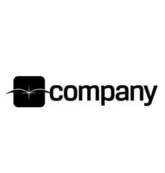 Open book logo vector