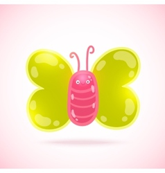 cute cartoon butterfly vector image