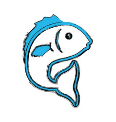 fish sea animal symbol vector image vector image