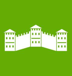 great wall of china icon green vector image