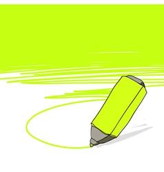 highlighter concept vector image