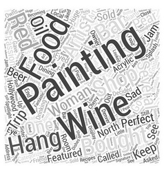 paintings of food and wine Word Cloud Concept vector image