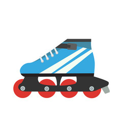 roller skate skating retro isolated vector image vector image