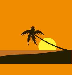 seaside view poster beach wallpaper vector image
