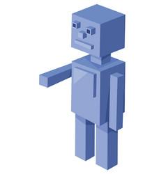 Cubical robot cartoon character vector
