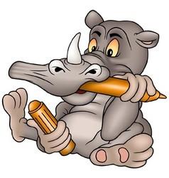 Rhino Painter vector image vector image