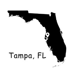 1315 tampa fl on florida state map vector image