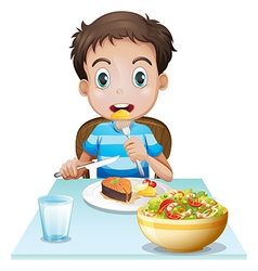 A hungry young man vector image