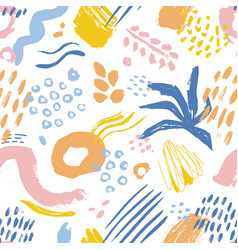 artistic seamless pattern with colorful paint vector image