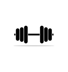 barbel dumbbell gym icon logo template vector image