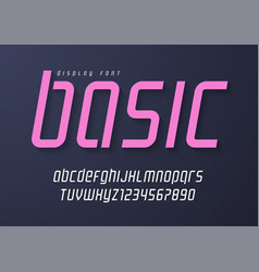 basic display font design alphabet typeface vector image