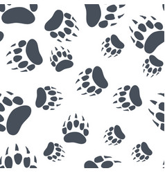 Bear claw bear footprint seamless pattern vector