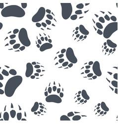 Bear claw bear footprint seamless pattern vector