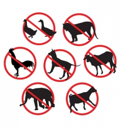 Beware animals vector