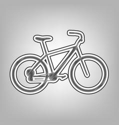bicycle bike sign pencil sketch vector image vector image