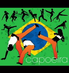 capoeira silhouettes vector image
