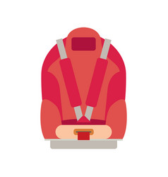 Car seat child safety isolated vector