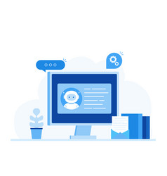 chatbot artificial intelligence customer support vector image