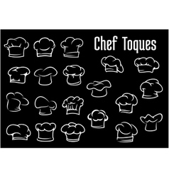 Chef and cook hats caps or toques vector image