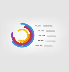 circular chart color infographics step by step in vector image