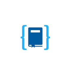 code book logo icon design vector image