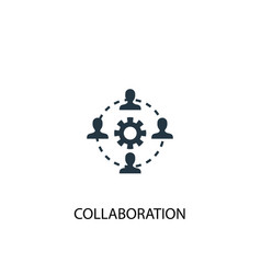 Collaboration icon simple element vector