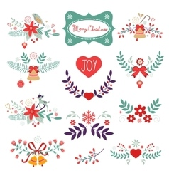 Colorful Christmas banners vector image