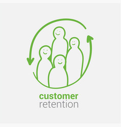 customer retention as basis for successful vector image