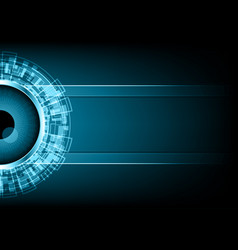 Cyber security watching eye vector
