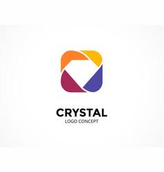 diamond logo template luxury abstract vector image