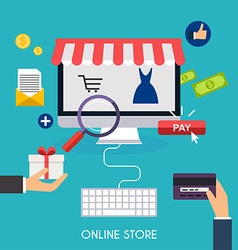 E-commerce electronic business online shopping vector
