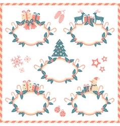five christmas banners vector image
