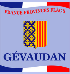 Flag of french province gevaudan vector