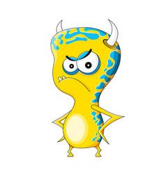Funny evil monster vector