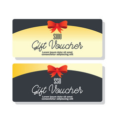 gift voucher for business concept vector image