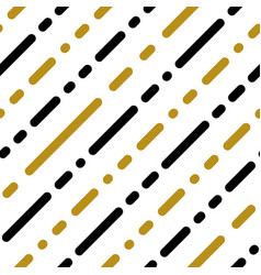 gold black white strip line seamles pattern vector image