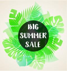 green banner for seasonal summer sale vector image
