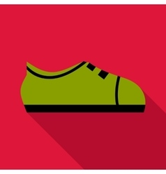 Green boot icon flat style vector