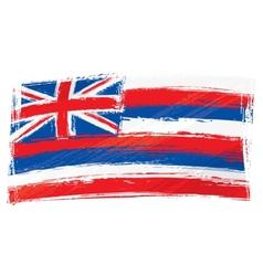 Grunge Hawaii flag vector
