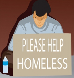 Homeless vector
