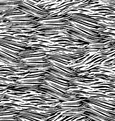 Ink hand drawn abstract lines seamless pattern vector image