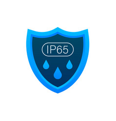 ip65 protection standard icon safety badge vector image