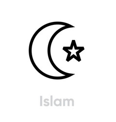 Islam religion icon editable line vector