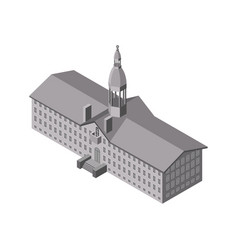 isometric church icon vector image