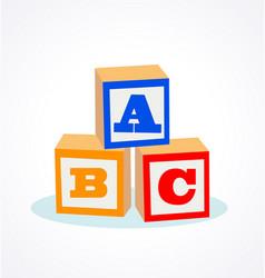 kids abc letter blocks vector image